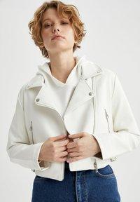 DeFacto - Faux leather jacket - white - 4