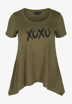 Print T-shirt - ivy green xoxo