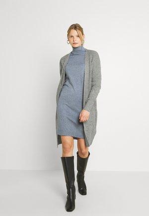 VIYTAL TIE BELT - Cardigan - mottled grey