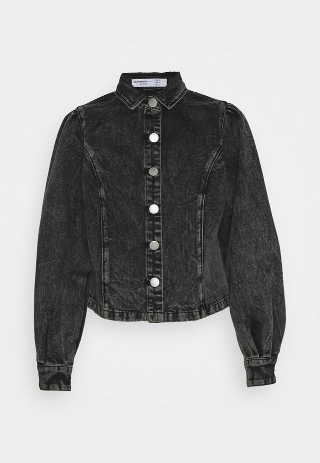 LADIES BLACK ACID WASH - Camicetta - black