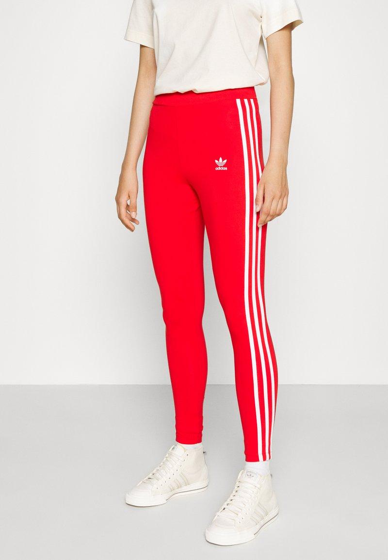 adidas Originals - STRIPES COMPRESSION - Leggings - Trousers - red