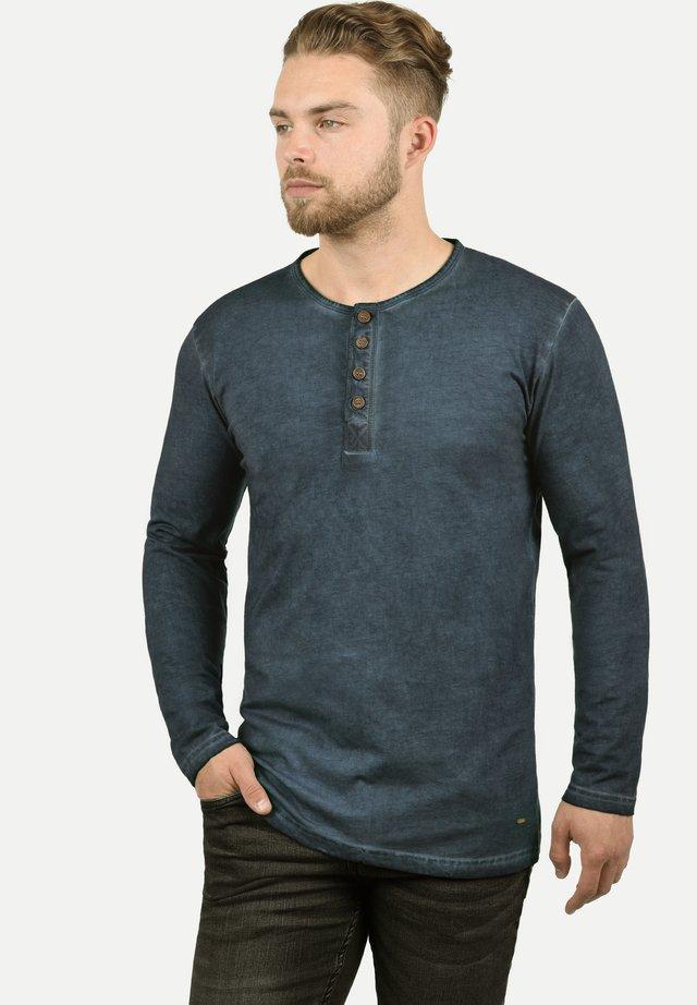 RUNDHALSSHIRT TIMUR - Long sleeved top - dark blue