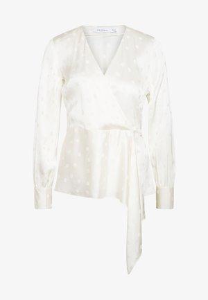 JACQUARD BLOUSE - Blouse - white