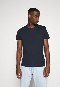 Burton Menswear London - SHORT SLEEVE CREW 3 PACK - Basic T-shirt - off white/navy/dusty - 4