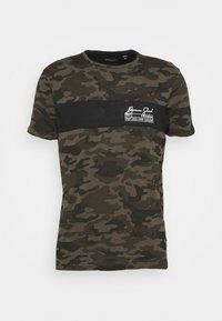 Brave Soul - GECKO - Print T-shirt - khaki/jet black/optic white - 3