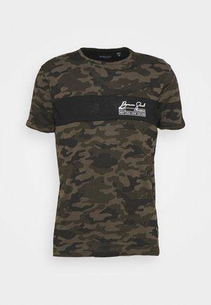 GECKO - T-shirts print - khaki/jet black/optic white