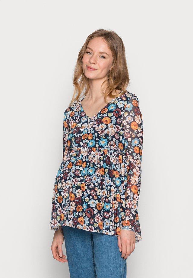 MLAMELIA  - Bluzka z długim rękawem - navy blazer