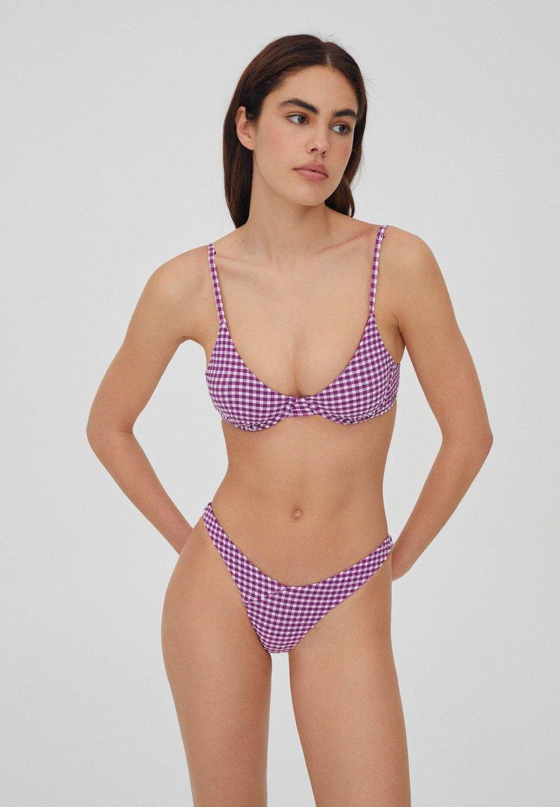 PULL&BEAR - Góra od bikini - mottled pink