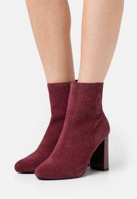 River Island - Kotníková obuv na vysokém podpatku - red dark - 0
