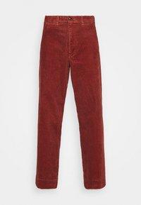 FULL LENGTH WIDE LEG - Trousers - copper beech