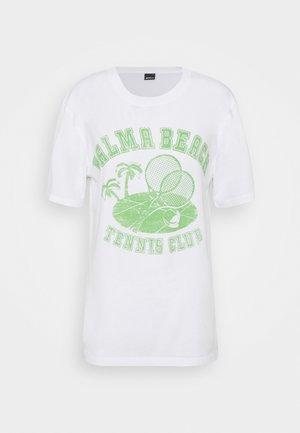 ELLIE TEE - T-shirts med print - white