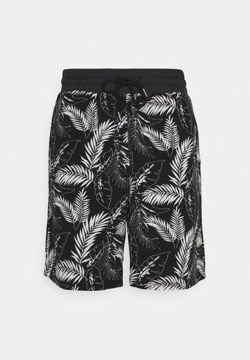 TROPICAL DARK - Shorts - black