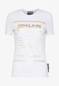 Versace Jeans Couture - Triko spotiskem - white/gold - 4