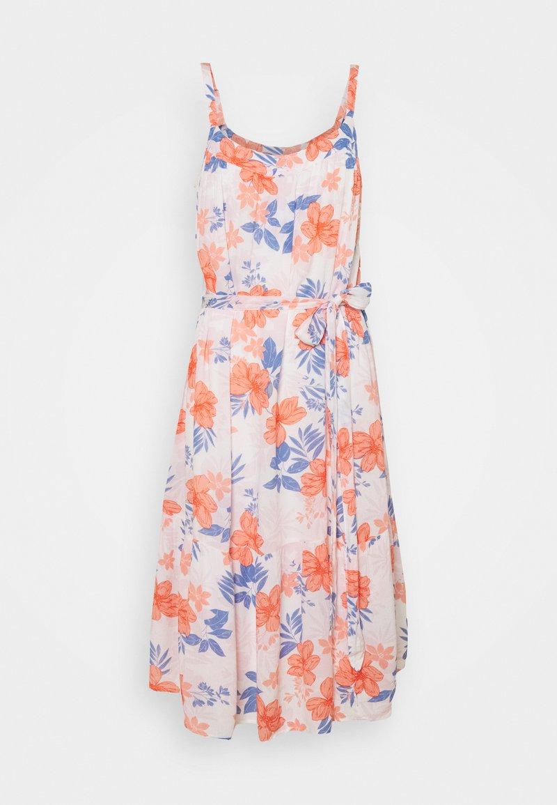 GAP Petite - MIDI TIE WAIST DRESS - Day dress - white