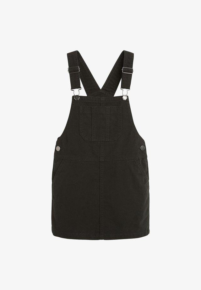PINAFORE - Denimové šaty - black