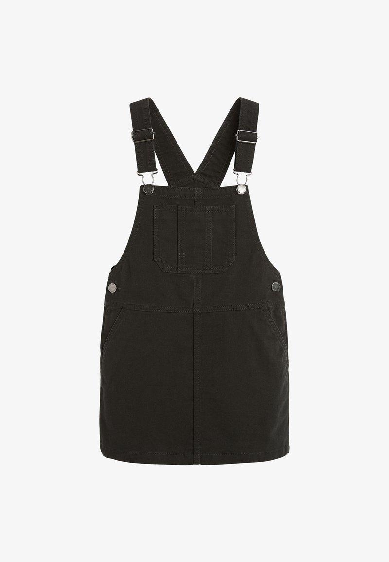 Next - PINAFORE - Denim dress - black