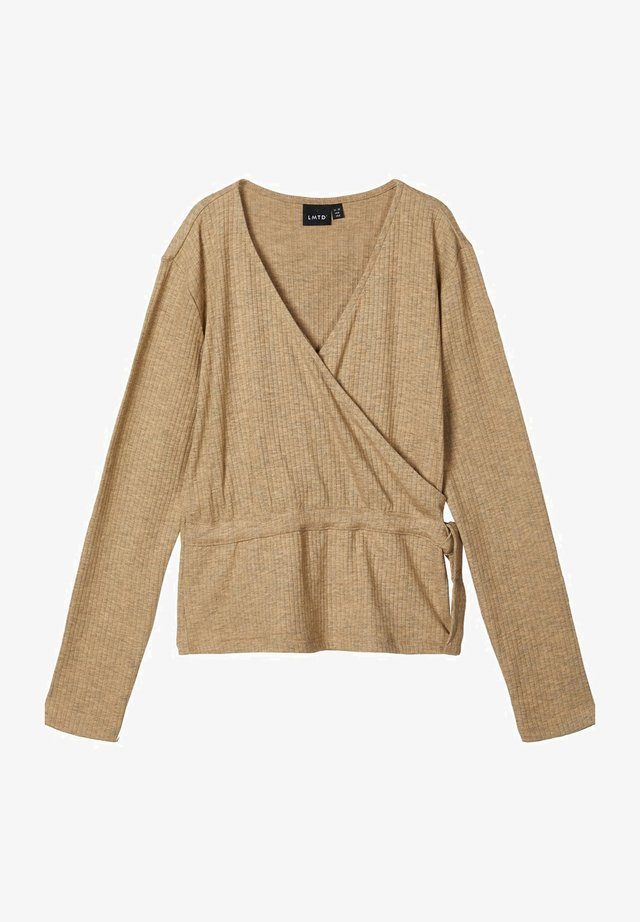 OBERTEIL LANGÄRMELIGES  - Long sleeved top - travertine