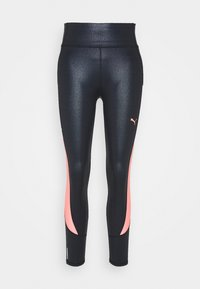 Puma - TRAIN PEARL HIGH WAIST - Legginsy - black/peach - 4