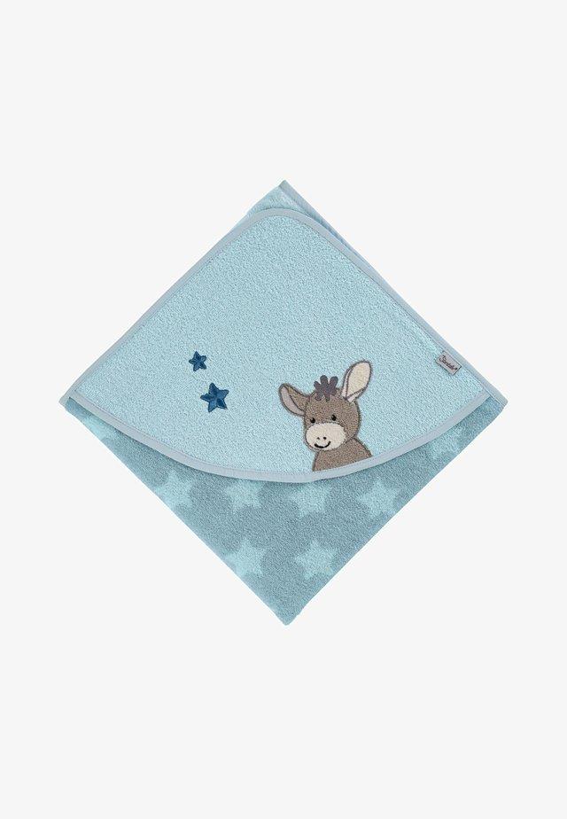 KAPUZENBADETUCH 100X100 CM - Bath towel - mittelblau