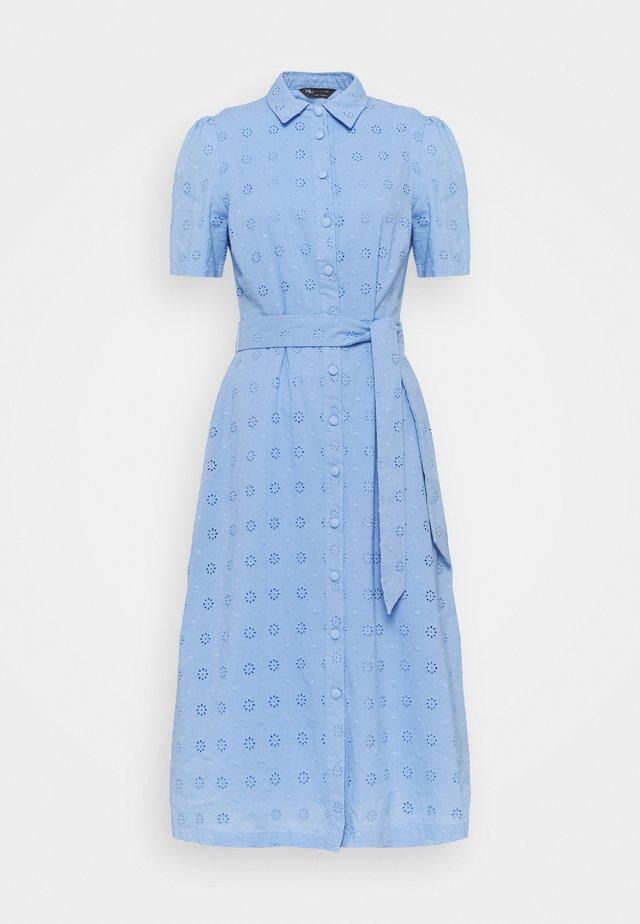 BROIDERIE - Skjortklänning - blue