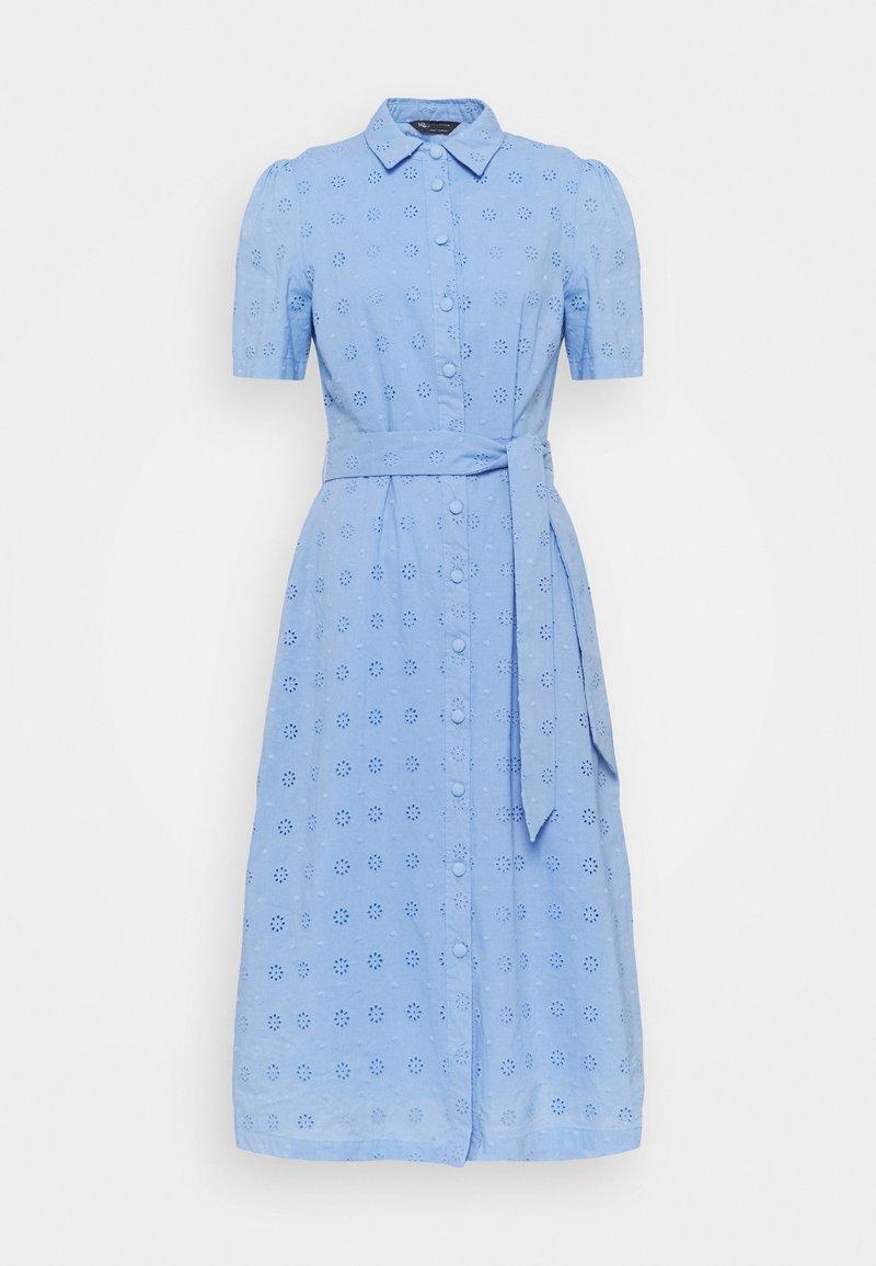 Marks & Spencer London - BROIDERIE - Shirt dress - blue