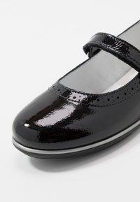 Melania - Ankle strap ballet pumps - black - 2