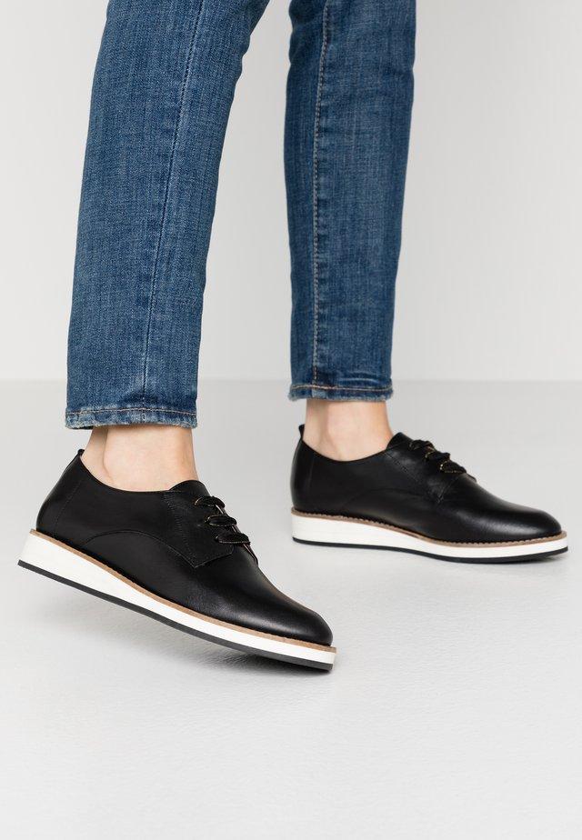 MESANA - Šněrovací boty - black