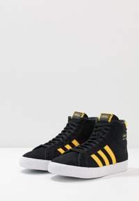 adidas Originals - BASKET PROFI - High-top trainers - core black/bold gold/footwear white - 2