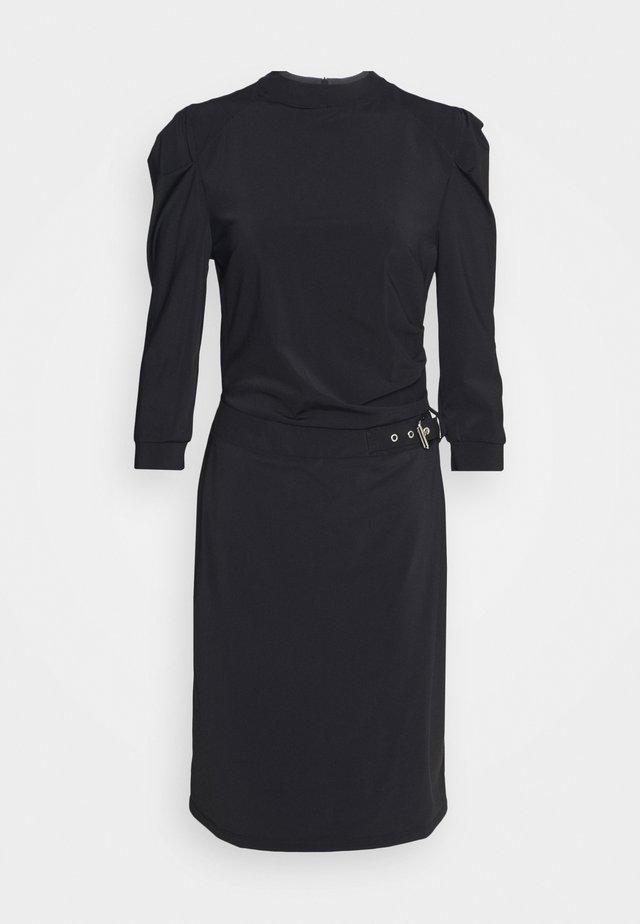 SUZY DRESS DRAPE SLEEVE - Day dress - black