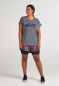 Active by Zizzi - ANELLA - Camiseta estampada - night sky melange - 1