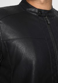 Only & Sons - ONSMIKE RACER JACKET - Faux leather jacket - black - 5