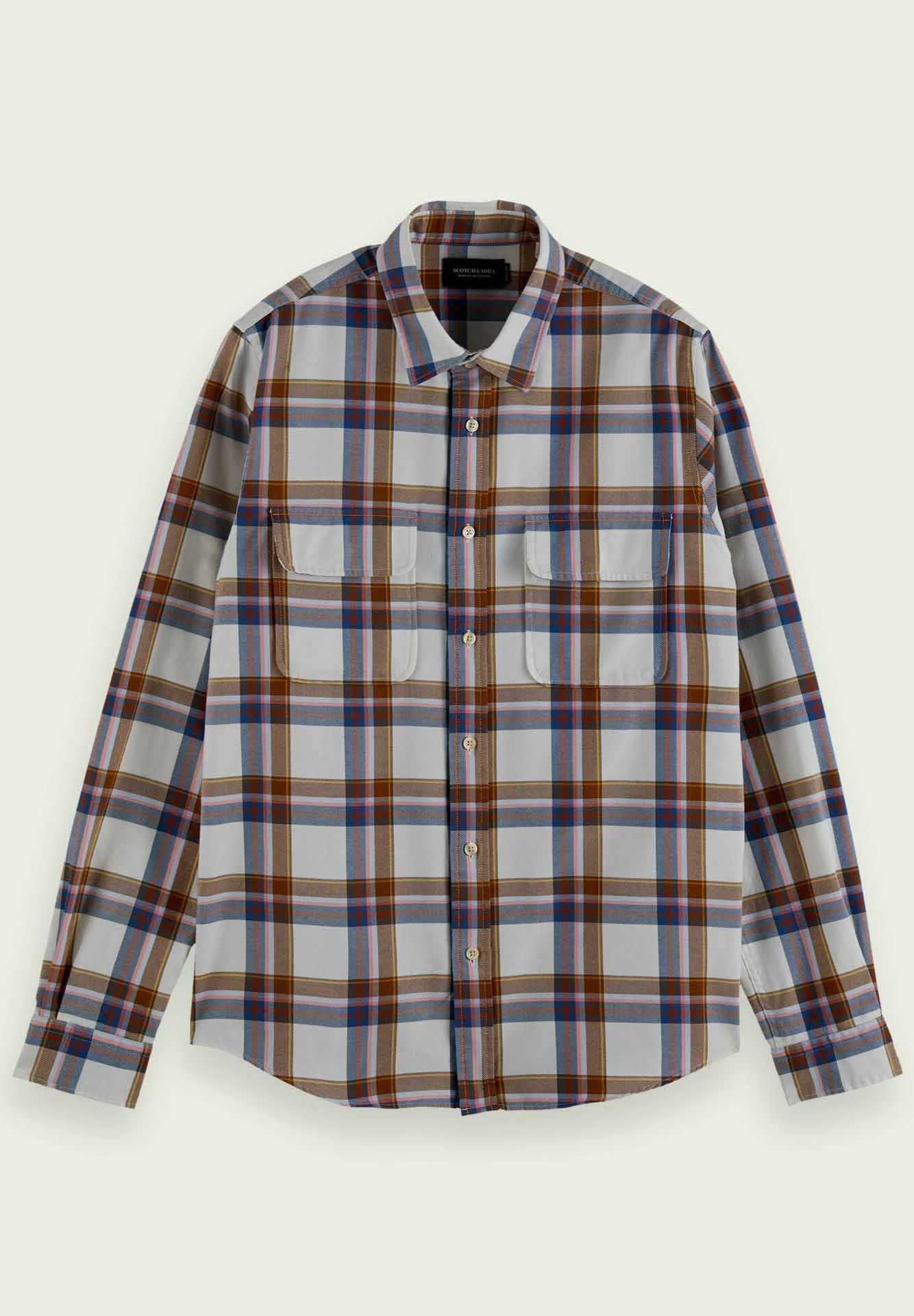 Homme REGULAR FIT CHECKED TWILL - Chemise