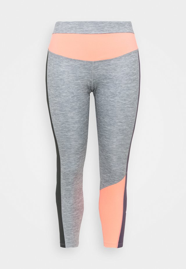 ONE - Legging - moke grey/heather/bright mango/white