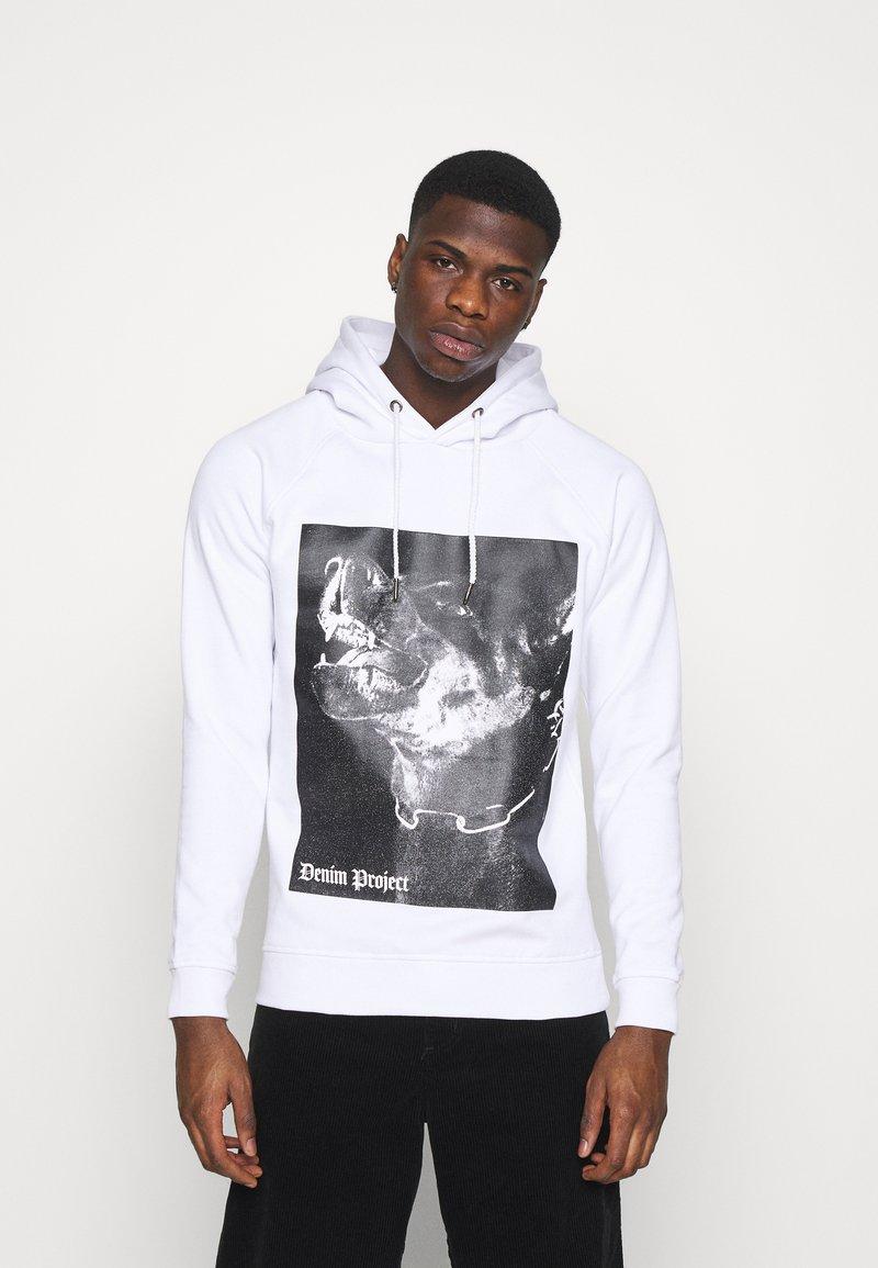 Denim Project - DOG HOODIE - Sweatshirt - white