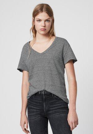 MIA LIN STRIPE TEE - T-shirts print - black