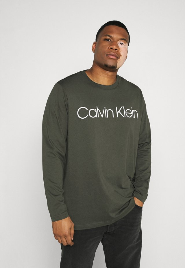 LOGO - Long sleeved top - green