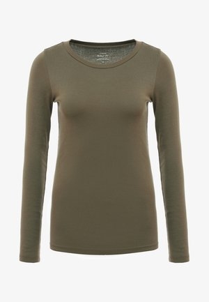 PERFECT FIT CREW - Langarmshirt - frosty olive