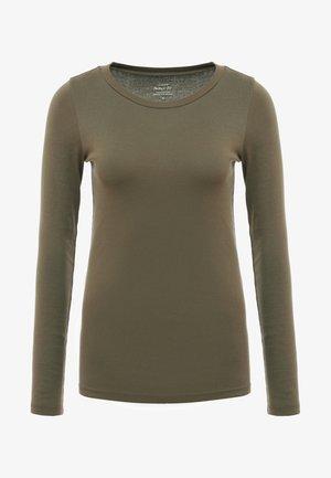 SLIM PERFECT  - Maglietta a manica lunga - frosty olive