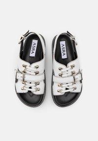 ASRA - SYDNEY - Korkeakorkoiset sandaalit - white - 4