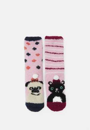 PUG AND CAT FLUFFY SLIPPER SOCKS 2 PACK - Socks - multi-coloured