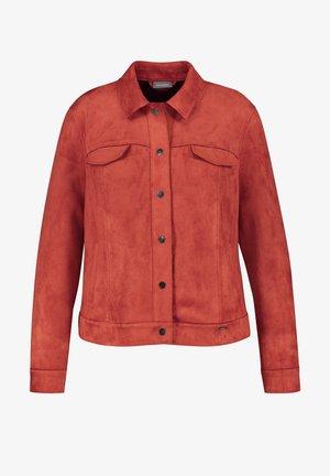 Faux leather jacket - curcuma