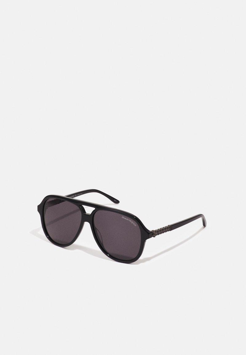 Alexander McQueen - UNISEX - Sluneční brýle - black/silver-coloured/grey