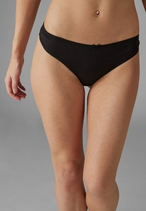 7 Pack - Thong - black