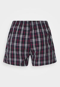 Urban Classics - WOVEN PLAID DOUBLE 2 PACK - Boxershort - red/navy - 3