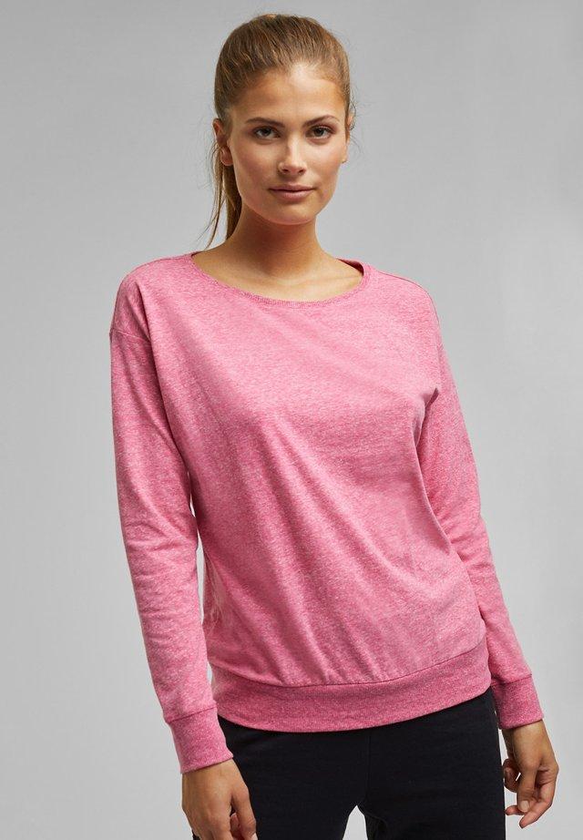MELIERTES LONGSLEEVE - Long sleeved top - pink fuchsia