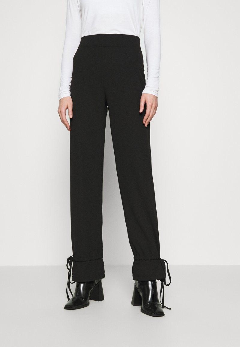 Nly by Nelly - TIE PANTS - Trousers - black
