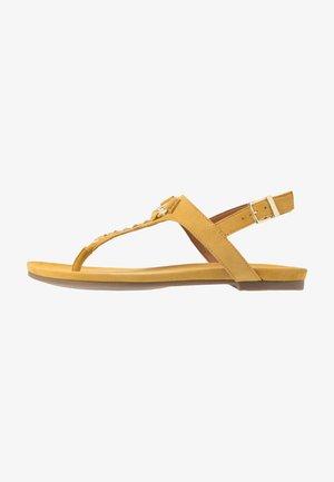 JENNA - T-bar sandals - yellow