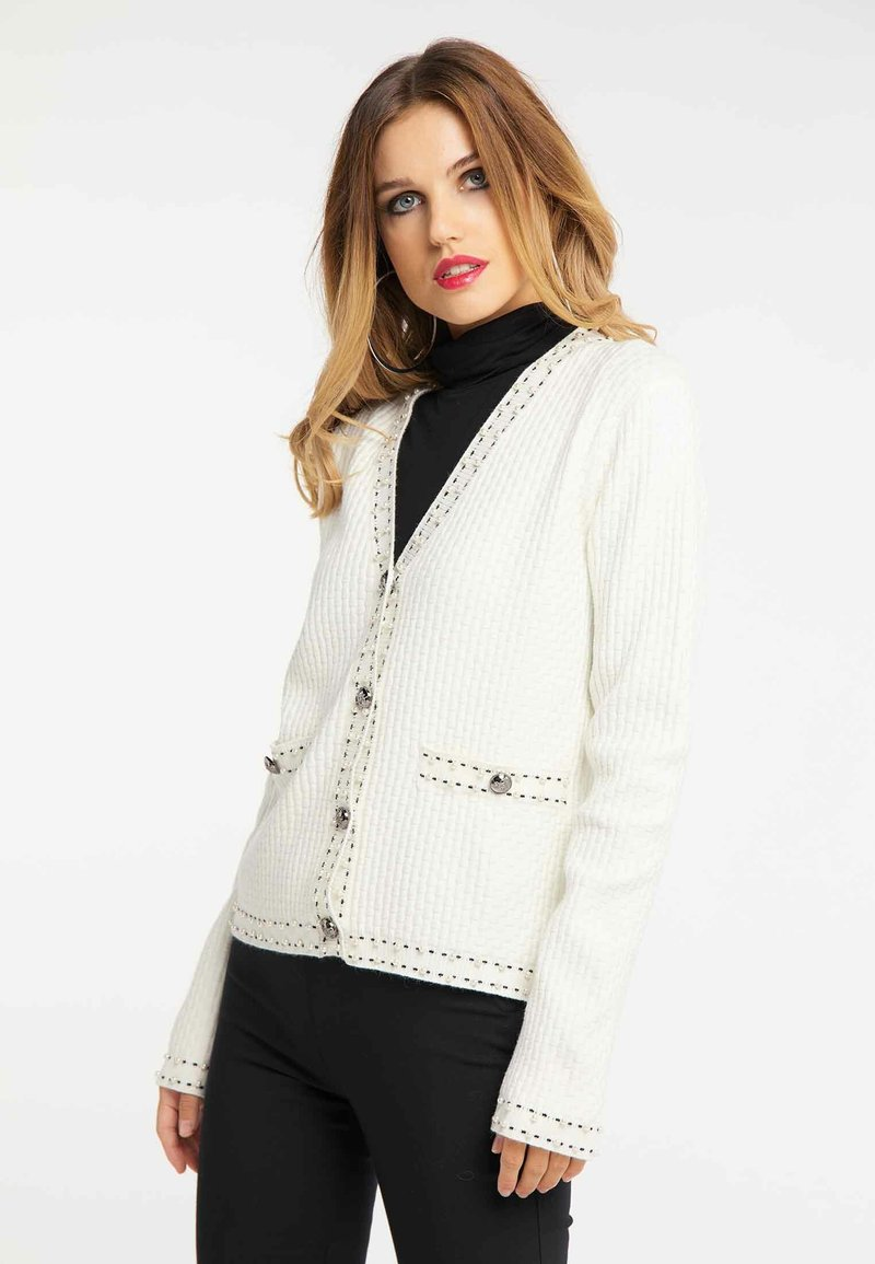 faina - Cardigan - white