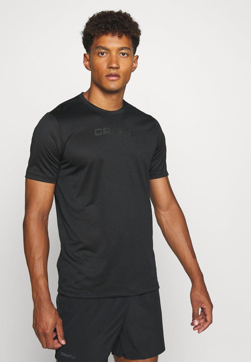 Craft - CORE ESSENCE TEE  - T-shirt z nadrukiem - black