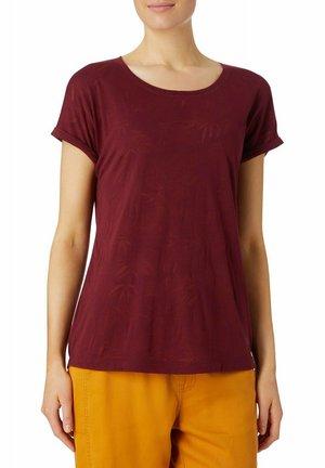 MARYSSA - Print T-shirt - red wine